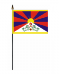 Tibet Country Hand Flag - Small.
